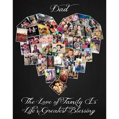 with 43 photos heart collage ❤ Background 7 font 3 Heart Shaped Photo Collage, Heart Collage, Anniversary Gifts For Husband, Anniversary Photos, Photo Collage Canvas, Photo Collages, Sep 15, Collage Background, Personalized Gifts For Dad