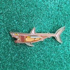 You're gonna need a bigger boat. Glow in the Dark Skeleton and Cartilage Silver Metal inches Soft enamel 2 rubber yellow attachments Jacket Pins, Cool Pins, Button Badge, Pin And Patches, Metal Pins, Memento Mori, Mode Style, Pin Badges, Stickers