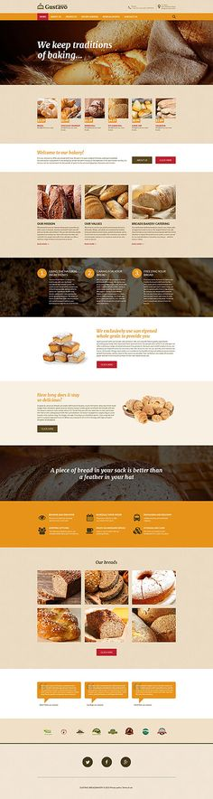 Design Needs Time - Get Template Espresso! Food & Drink website inspirations at your coffee break: browse for more Food & Drink Responsive JavaScript Animated templates! // Regular price: $63  // Sources available: .HTML, .PSD  // #Food #Drink #Responsive #JavaScript #Animated #templates #services #birthday #specials #order #celebration #delivery #staff #products #fancy #tasty #cake #sweets #cookies #receipts #masters #experts #cream #chocolate #bakery #biscuit #pastry #tarts #custard…