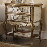 could paint and use overlays to create this look. Found it at Wayfair - Sanctuary 2 Drawer Nightstand