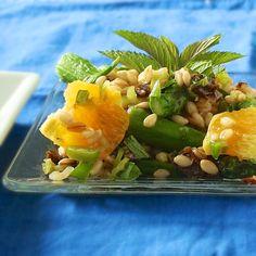 Orange Date Barley Salad with Mint   TeaspoonofSpice.com @tspbasil