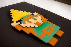 """""""Link"""" - Legend of Zelda - 3D hand cut paper craft by Pigg (2012)"""