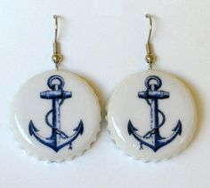 anchor bottle cap earrings.
