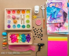 Paper Flower Garden: a Banner with make-it-your-own.com (Creative activities for kids!)