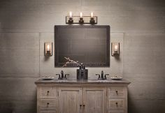 Your oasis awaits. The lighting for this design is available at https://aadenlighting.com/all/lighting/wall/bath?manufacturer=861&product_style=882. #bathroomdesign