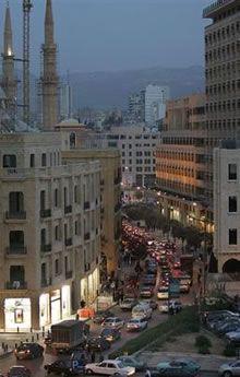 LEBANON, beirut traffic jam