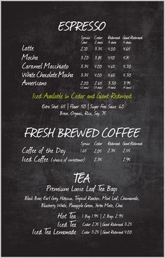 Price List Layout Idea for different goods/industries
