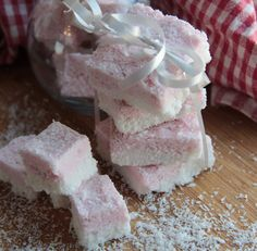 coconutice  Makes 16 large or 64 bite-sized squares Ingredients:      1 can coconut milk     2/3 cup coconut oil     1/2 cup rice malt syrup     4 cups desiccated coconut     Pinch of beetroot powder (or natural red food colouring of your choice)  Method:      Grease a 20cm square tin. Line base and sides with baking paper extending 2cm over edge of tin.     Place coconut milk, coconut oil and rice malt syrup in a small saucepan over low heat. Stir until melted and combined wel...
