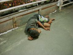 """""""A boy sleep over the bridge"""" Jakarta's streets have become places where children spend their days sleeping and begging or working in dangerous conditions Over The Bridge, Kids Sleep, Sleepover, Jakarta, Adventure, Children, Boys, Places, Life"""