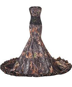 Avril Dress Gorgeous Wedding Gown Prom Dress Sheath Camo Strapless Long Train16CamoBlack * To view further for this item, visit the image link.