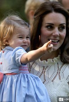 Princess Charlotte with her Mum!  God Bless her!  (: