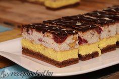 Érdekel a receptje? Kattints a képre! Küldte: My Recipes, Cake Recipes, Dessert Recipes, Cooking Recipes, Hungarian Cuisine, Hungarian Recipes, Hungarian Food, Cheesecake Pops, Wedding Desserts