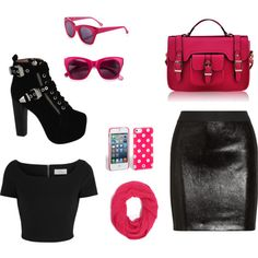 it's so pink Polyvore, Pink, Image, Fashion, Moda, Fashion Styles, Pink Hair, Fashion Illustrations, Roses