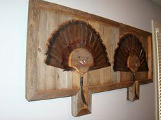 Cool custom built turkey fan display!