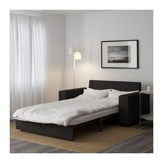 Brimnes daybed frame with 2 drawers black day bed for Vendo sofa cama 2 plazas