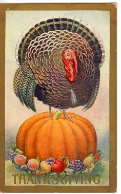 Vintage Thanksgiving Card Front