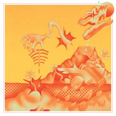 Graphic Design: Psychedelic album artwork from designer Robert Beatty Cool Album Covers, Music Album Covers, Box Covers, Music Artwork, Weird Creatures, Graphic Design Illustration, Fantasy Illustration, Graphic Prints, Cover Art