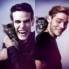 This photoshoot is the Best one ever! Rajah looks like a Vampire Cat though and Stella looks all innocent #Domberto #Shadowhunters