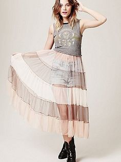 Free People Slip ::: This is $128... Uhh.. I can make this. Would be so pretty with another floaty dress over it.