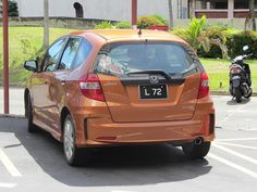 Copper Honda Jazz With Nice Registration