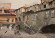 Václav Jansa, Stará škola, 1897, zdroj: Muzeum hlavního města Prahy