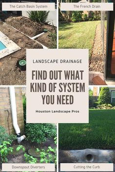 Landscape Drainage Solutions In This Page We Provide Short Descriptions Of The Diffe Yard