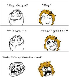 Troll Face - I love u