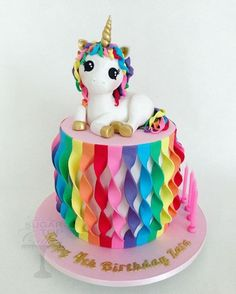 Unicorn Birthday Parties, Birthday Cake, Party Cakes, How To Make Cake, Desserts, Food, Shower Cakes, Tailgate Desserts, Deserts