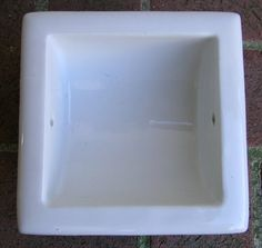Vintage Recessed Toilet Paper Holder  White by KathatKreations