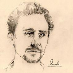 Tom Hiddleston by =kleinmeli on deviantART