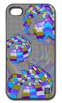"""Deconstructing the Mesh""(c) on an iPhone cover.  (c) 2013 Textiles for Thinkers, LLC.  All Rights Reserved."