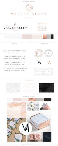 Velvet Alley Events Brand Board by Harper Maven Design \\ www.harpermavendesign.com