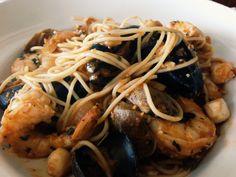 seafood pasta   half moon bay   sam's chowder house   travel   joodyjoods.com