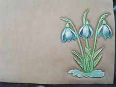 """Обложка на паспорт """"Весна"""". В процессе"""