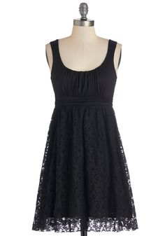 Artisan Iced Tea Dress in Black. This sleeveless, scoop-neck dress reminds us of a cool, sweet, anise-infused iced tea! #black #modcloth