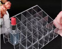 24 Lipstick Holder Display Stand Clear Acrylic Cosmetic Organizer Makeup Case Sundry Storage makeup organizer organizador HB-040(China (Mainland))