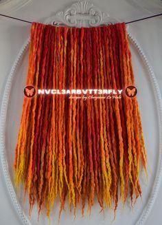 #Wool #Silk & #Bamboo #Dreads 42DE #Atomic #Sunset #Nuclear #Butterfly #nvcl3arbvtt3rfly #CheyenneLeHale #yellowhair #yellowdreads #orangehair #orangedreads