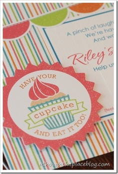 Bake Shop Party Invites (Also tutorial on ruffle aprons)