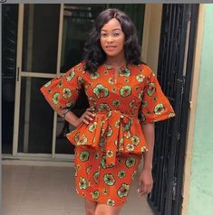 African Dresses Styles: Checkout This Creative African Dress Design African Dresses Styles Hello Fashionista Today again, I've selected some amazing trendy ankara styles for you to rock this festive season. Ankara Styles For Women, Ankara Dress Styles, Ankara Skirt And Blouse, Latest Ankara Styles, Peplum Blouse, Ankara Tops, Blouse Styles, African Fashion Ankara, Latest African Fashion Dresses