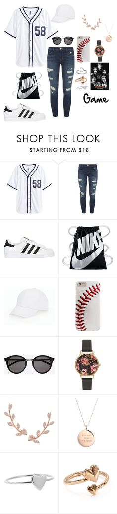 """Play"" by smokeylovebae ❤ liked on Polyvore featuring H&M, J Brand, adidas Originals, NIKE, Talbots, Yves Saint Laurent, Olivia Burton, Humble Chic, Kate Spade and Jennifer Meyer Jewelry"