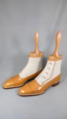 HandmadeTan Beige Button Boot,Men Ankle Leather and Suede Boot, Men Formal Boot Suede Boots, Leather Shoes, Suede Leather, Men's Shoes, Dress Shoes, Gucci Shoes, Unique Boots, Mens Boots Fashion, Dress With Boots
