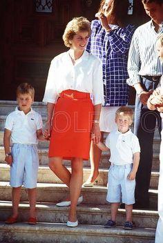 Princess Diana Young Princes