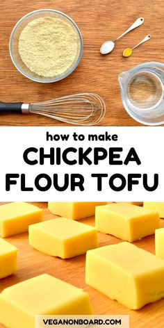 This simple burmese tofu has only four ingredients and is so easy to make All you need is chickpea flour water a bit of salt and turmeric This soy free tofu is a great alternative to traditional tofu in all your favourite vegan meals Vegan Life, Raw Vegan, Vegan Vegetarian, Vegetarian Recipes, Chickpea Flour Recipes, Tofu Recipes, Cooking Recipes, Vegan Recipes Using Chickpeas, Cooking Tips