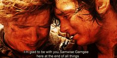 """The Friendship/love between Frodo and Sam mrsbaggins: """" The way they look at each other; The way Sam would do everything for Frodo; The way sam Cries; the things that Frodo. Rr Tolkien, Tolkien Books, Fellowship Of The Ring, Lord Of The Rings, Eowyn And Faramir, Merry And Pippin, Samwise Gamgee, Friendship Love, The Two Towers"""