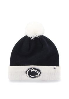 f2723f31a3c41  47 Penn State Nittany Lions Navy Blue Bounder Cuff Knit Hat Lion Hat
