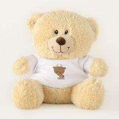 Cute Teddy Bear Chibi Taurus cartoon TShirt - baby birthday sweet gift idea special customize personalize