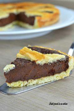 crostata al cioccolato ed amaretti