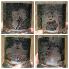 DIY Picture Candle Holders