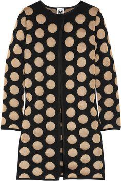 Polka-dot fine-knit cardi-coat by M. Missoni #Cardigan #Coat #M_Missoni