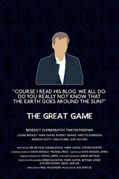 Sherlock: The Great Game Lestrade poster